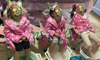 Mums throw epic 'pamper day' for girls' party