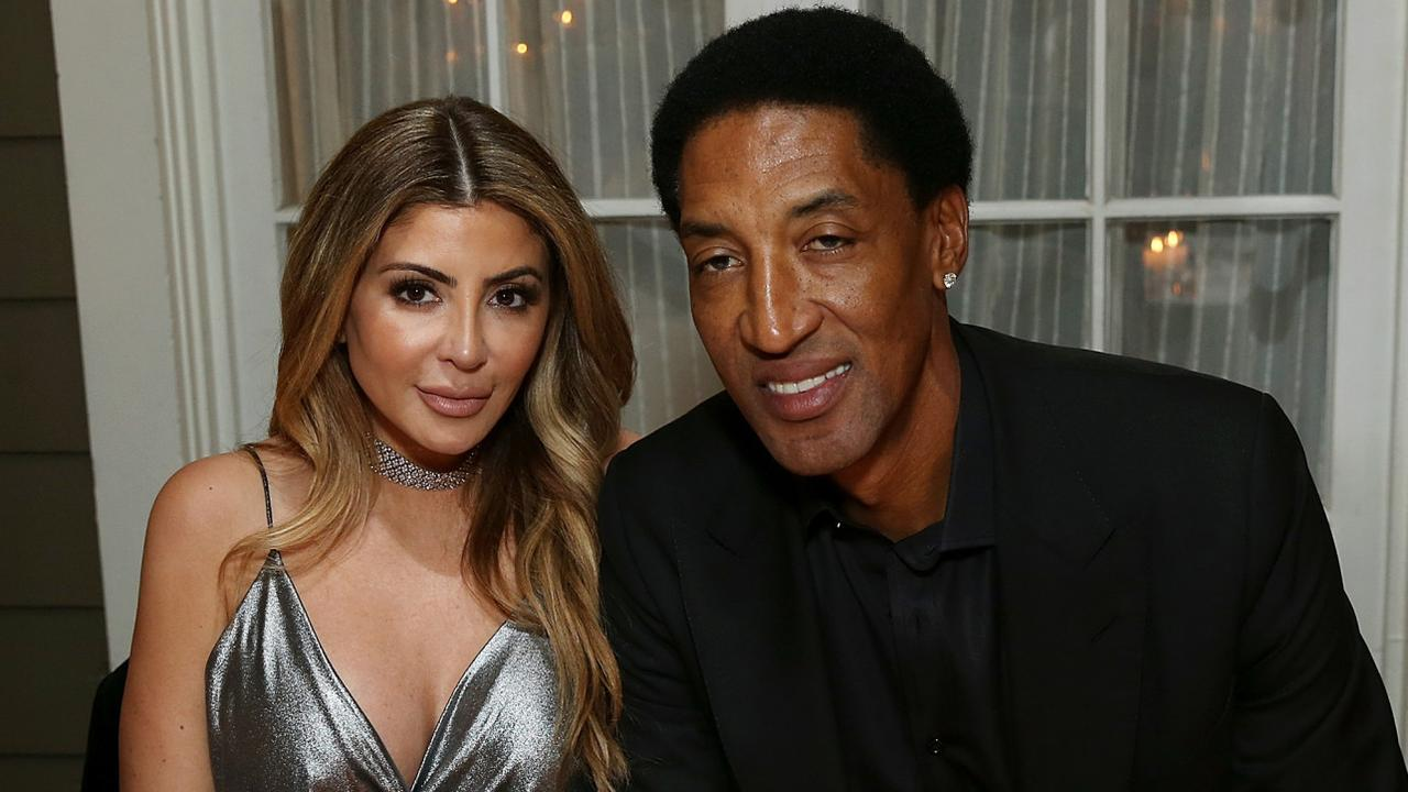 Scottie Pippen with ex-wife Larsa. Picture: Getty Images