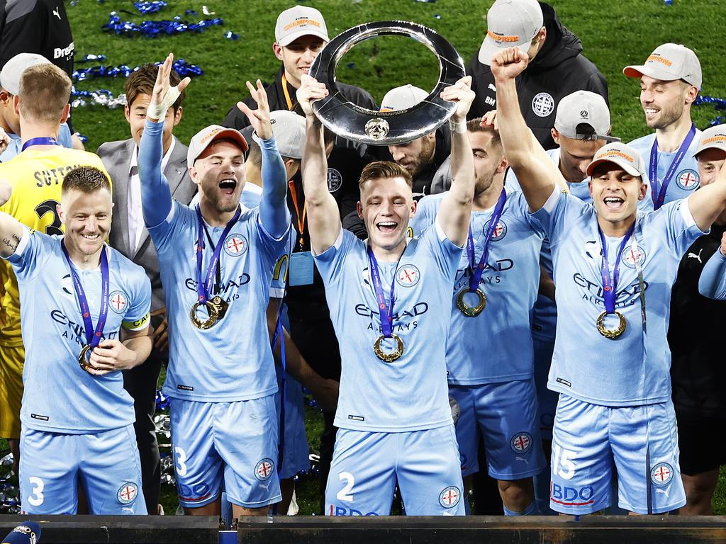Melbourne City won its first A-League title earlier this year. Picture: Daniel Pockett / Getty Images