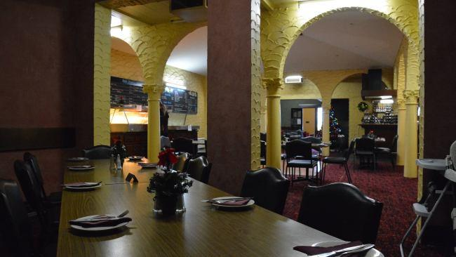 The dining room empties - briefly - in the short gap between lunch and dinner. Picture: Supplied