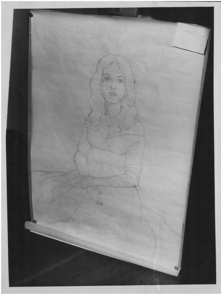 Len's sketch of Jane Bower.