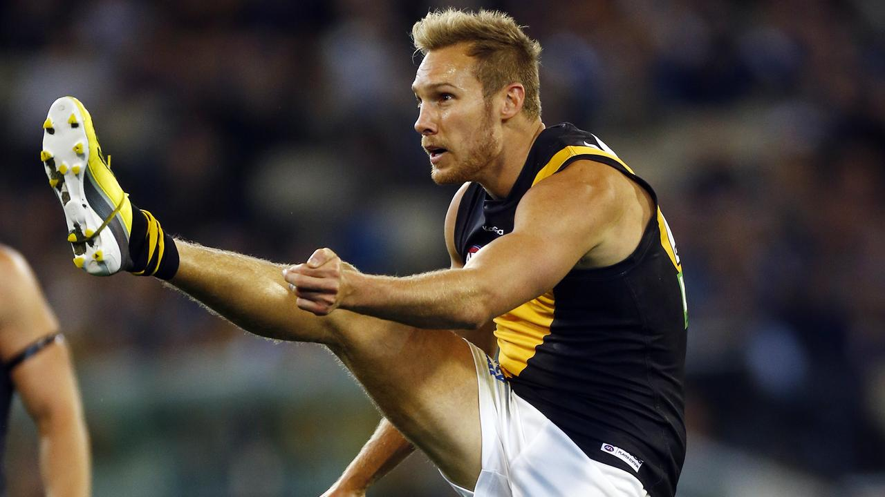 Luke McGuane has had several former teammates over to his South Melbourne pad, including Richmond favourite son Dustin Martin.