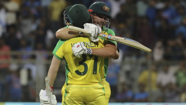 Aaron Finch and David Warner both made centuries.
