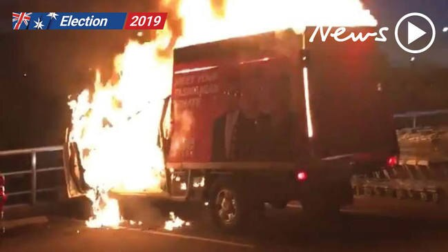 One Nation truck set alight in Tasmania