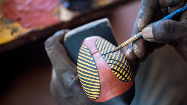 10/20Where to go in the Tiwi Islands? Visit Tiwi Designs art complex (est.1968) and you'll meet guide Buffy Warlapinni, one of the Tiwi's celebrated 'Sistergirls' – local men who identify as women. Their stunning screen-printed designs will grace the catwalk at the 2021 Darwin Art Fair – as modeled by the Sisters. 