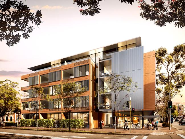 The Monarch development in Mosman will be located on the corner of Military Rd and Belmont Rd.