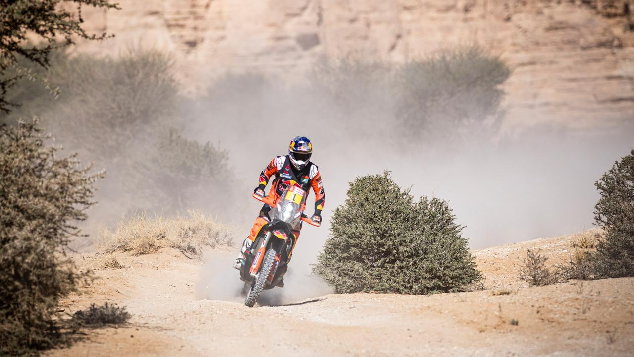 Toby Price en route to P2 in Stage 9 on Tuesday. Pic: @tobyprice87
