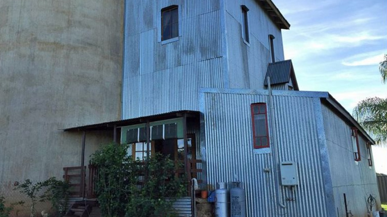 A two bedroom home has already been built into the side of the silos.