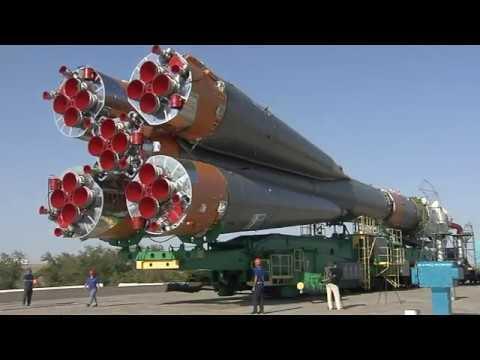 Soyuz Prepares to Take Crew to Space Station. Credit - NASA via Storyful