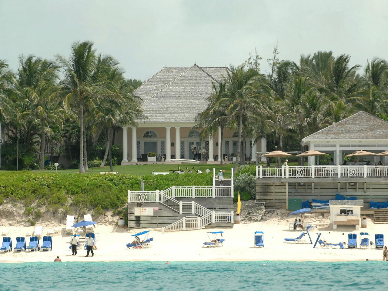 The One and Only Beach Club, part of the Ocean Club Hotel on Paradise Island, the Bahamas, where golfer Greg Norman and former tennis player Chris Evert are due to be married.