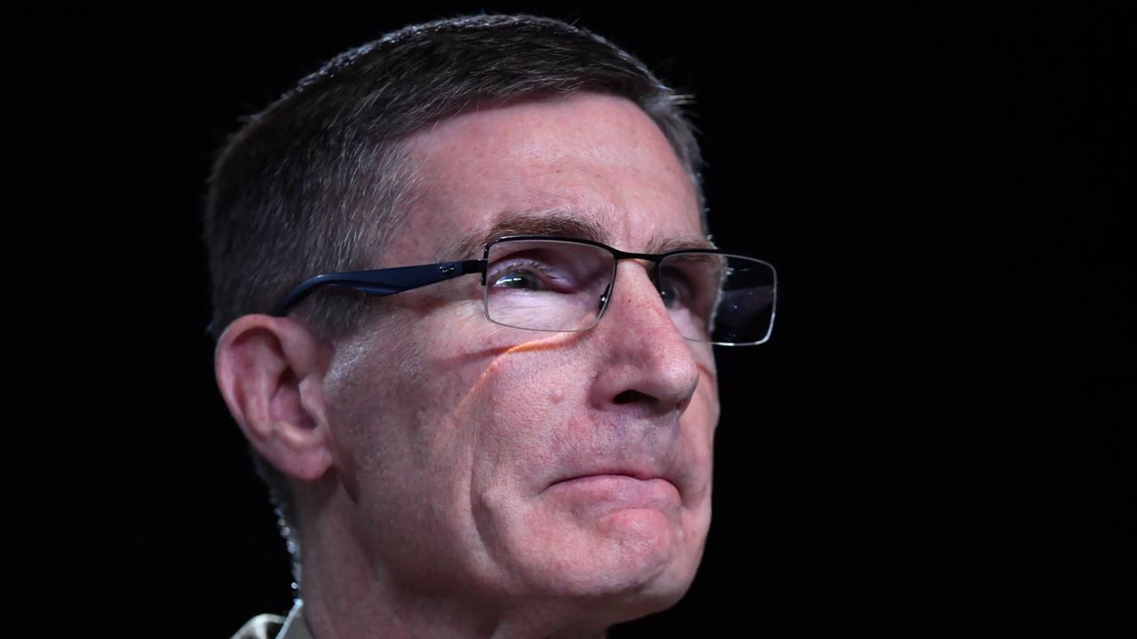 General Angus Campbell has stood by the advice he gave to young recruits. Picture: Mick Tsikas – Pool/Getty Images