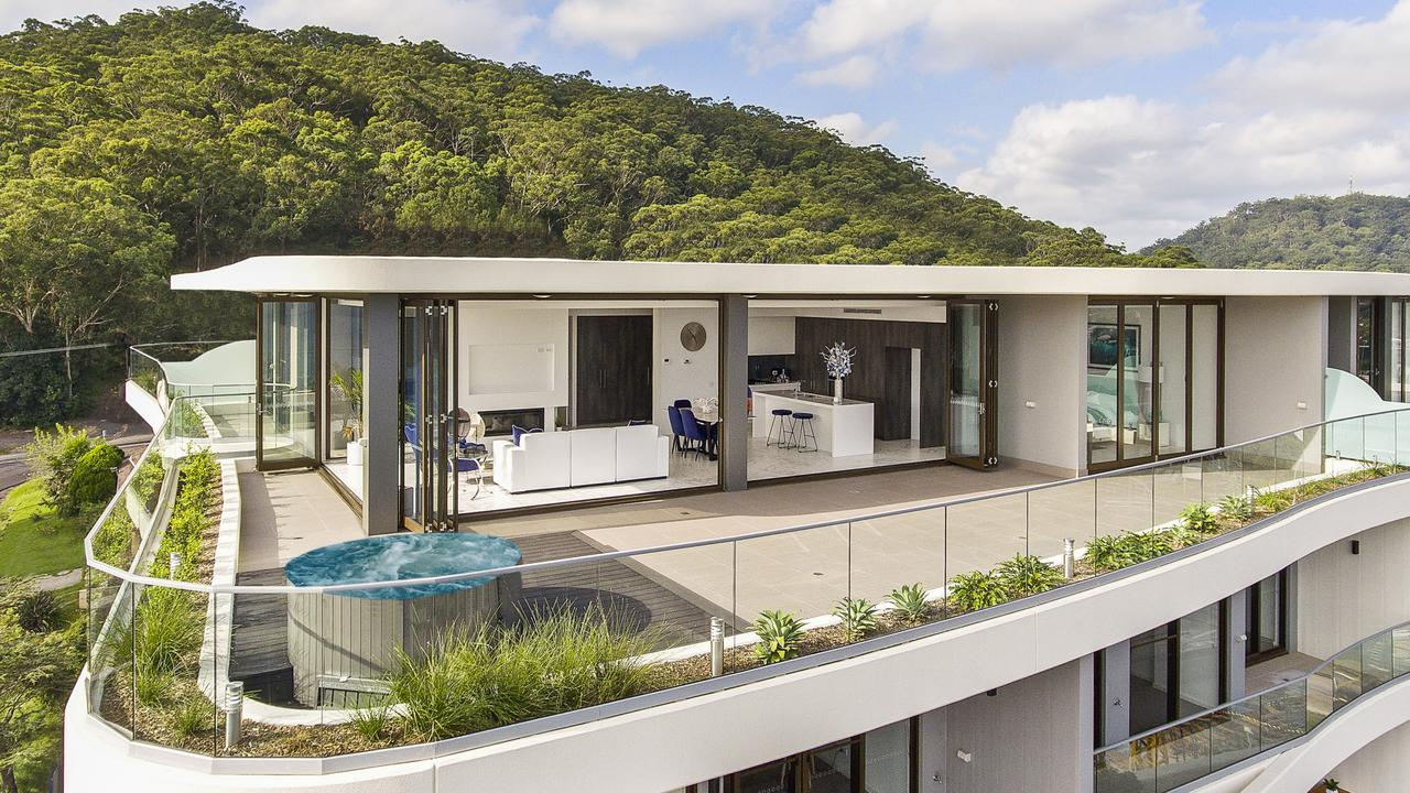 The penthouse apartment at 702/2-6 Wilhelmina St in Gosford.