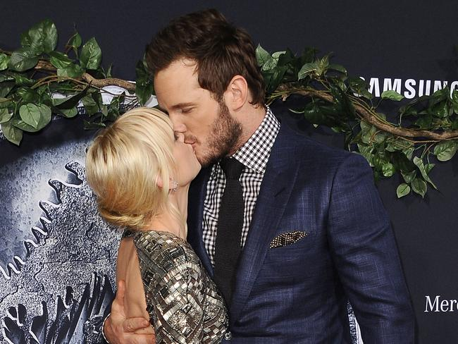 Happier times: At the Jurassic World premiere.