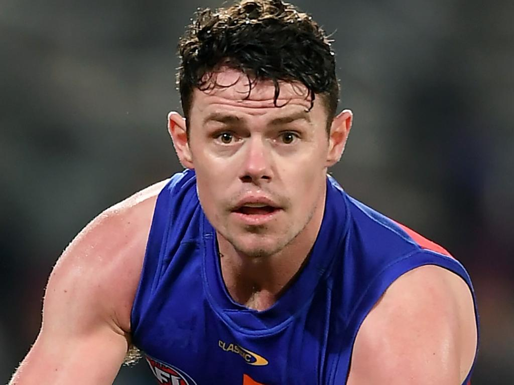ADELAIDE, AUSTRALIA - AUGUST 28: Lachie Neale of the Lions during the AFL First Qualifying Final match between Melbourne Demons and Brisbane Lions at Adelaide Oval on August 28, 2021 in Adelaide, Australia. (Photo by Mark Brake/Getty Images)