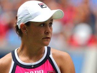 Ash Barty has crashed out of the US Open in straight sets. Source: Getty Images