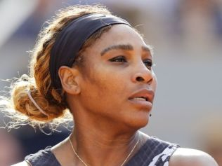 Serena Williams at this year's French Open. Image: AFP
