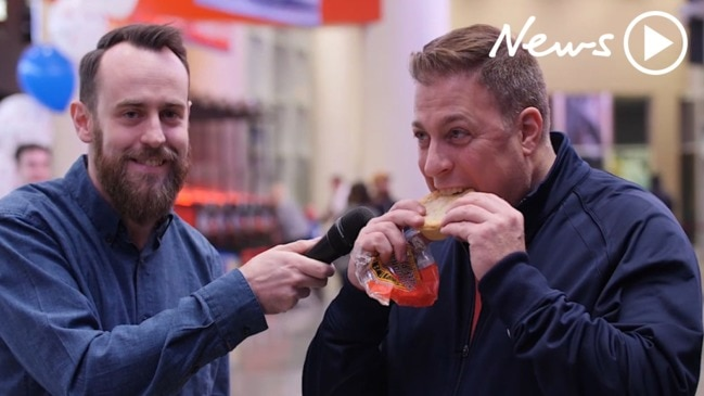 Americans try meat pies for the first time