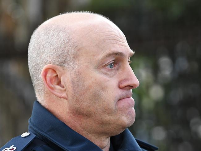 Victoria Police Superintendent David Clayton urged people to be careful in the area at night. Picture: James Ross/AAP