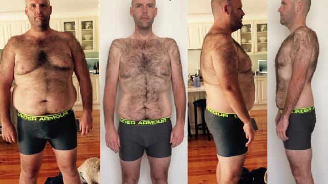 Andrew Taylor lost more than 50 kilograms. . Picture: Facebook