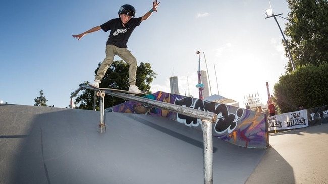 Chloe Covell skateboarding. Picture: supplied