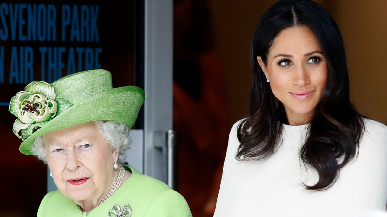The a move described by Lacey as 'ruthless', Queen Elizabeth forbid Meghan and Harry from using the word royal. Picture: Martin Rickett/PA Images via Getty Images.