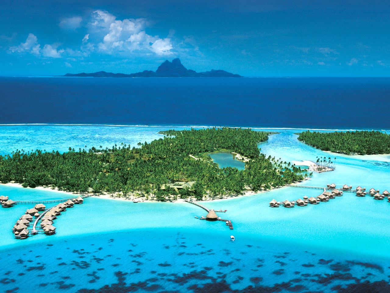 The private island in Tahiti.