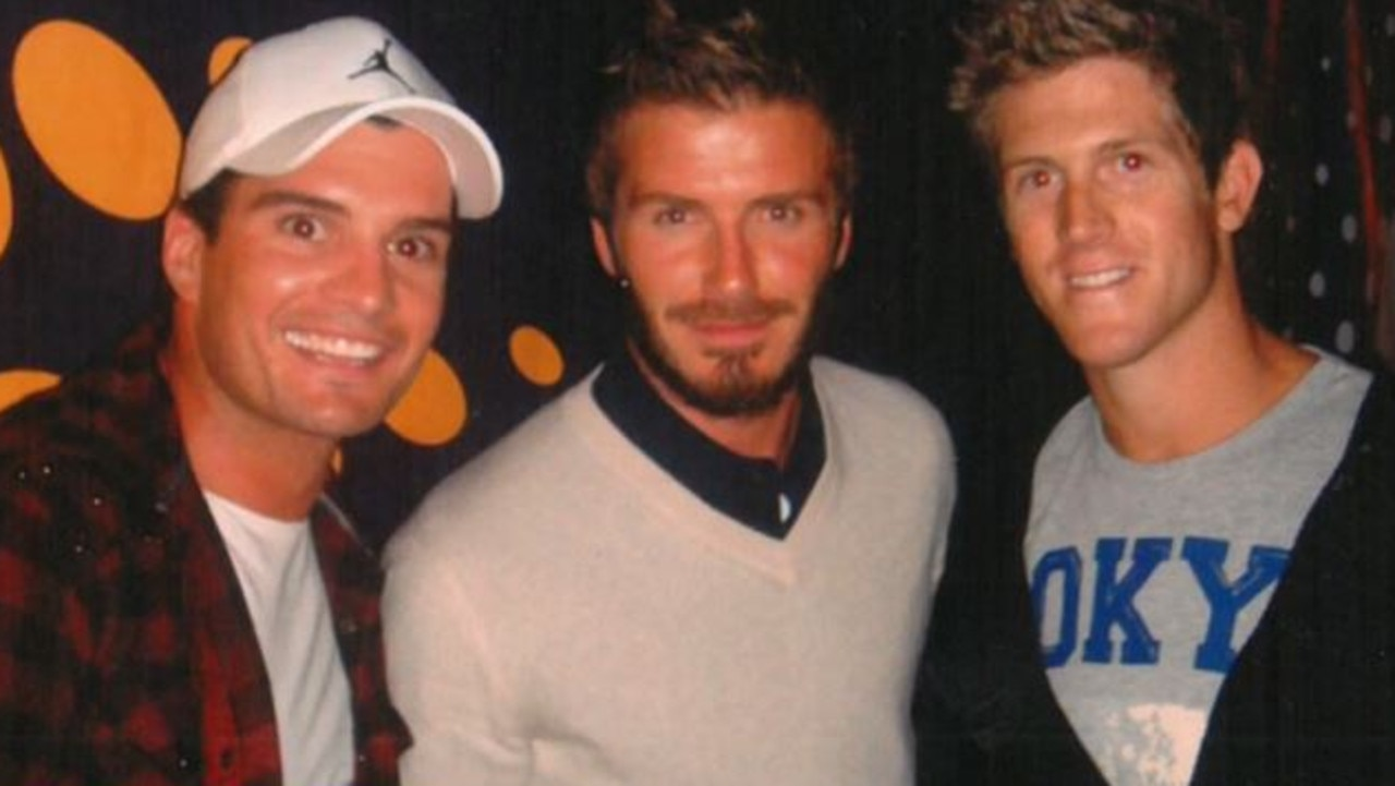 The pair snagged a photo with David Beckham.