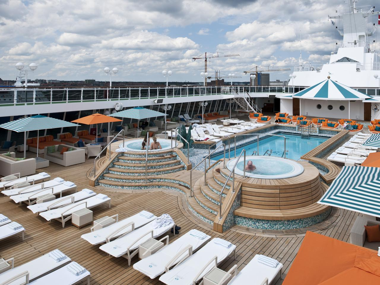 Crystal serenity deck at sea