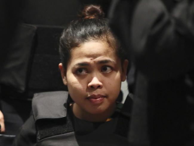 Indonesian Siti Aisyah was overcome with emotion  at Kuala Lumpur International Airport.