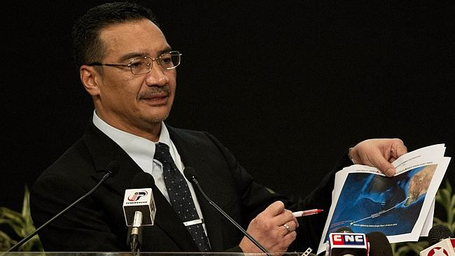 Unenviable role ... Malaysian Minister of Defence and Acting Transport Minister Hishammuddin Hussein has been the public face of the MH370 saga. Picture: Mohd Rasfan