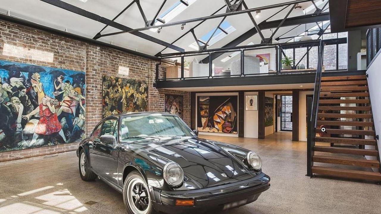 The transformed garage at Julian Cress' former Annandale warehouse.