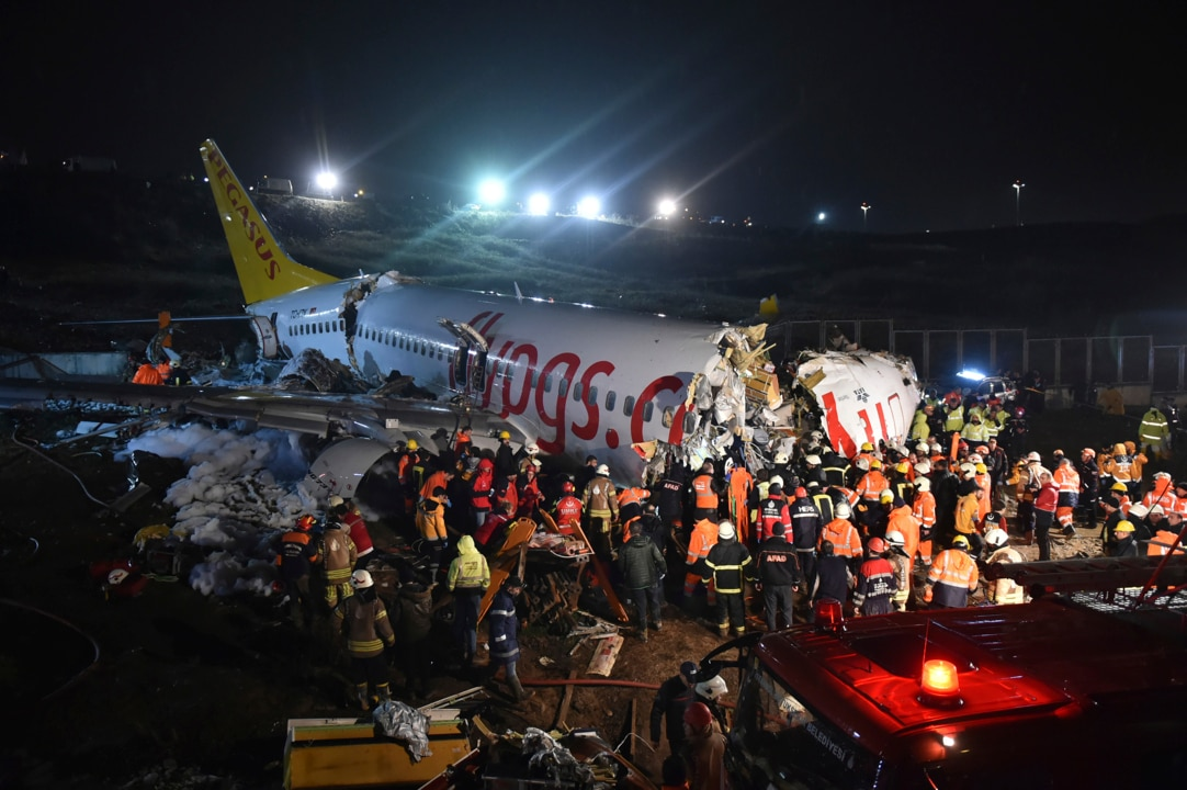 Plane breaks into pieces landing on Istanbul runway, injuring 139