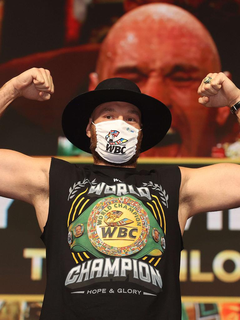 Fury is feeling confident. Photo: Al Bello/Getty Images/AFP