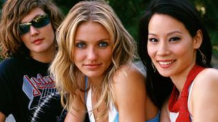 """(L-r) actor Drew Barrymore with Cameron Diaz and Lucy Liu from film """"Charlie's Angels: Full Throttle"""". charlies /Films/Titles/Charlies/Angels/Full/Throttle"""