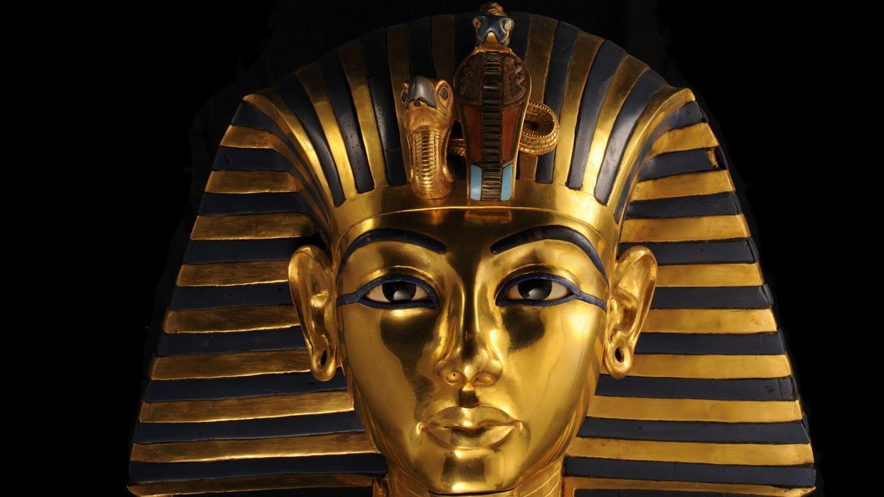 The funerary mask of King Tutankhamun.