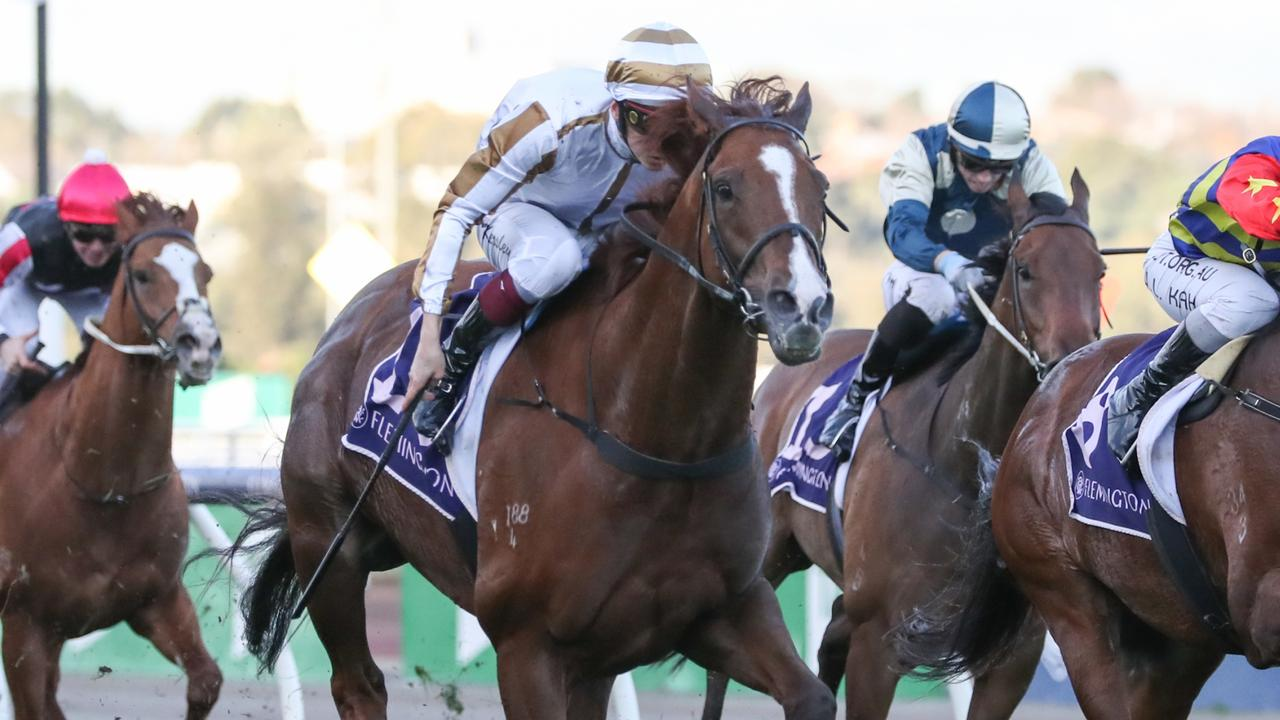 Dice Roll has tuned up for the Group 1 Sir Rupert Clarke Stakes with a trial at Cranbourne. Picture: Racing Photos via Getty Images