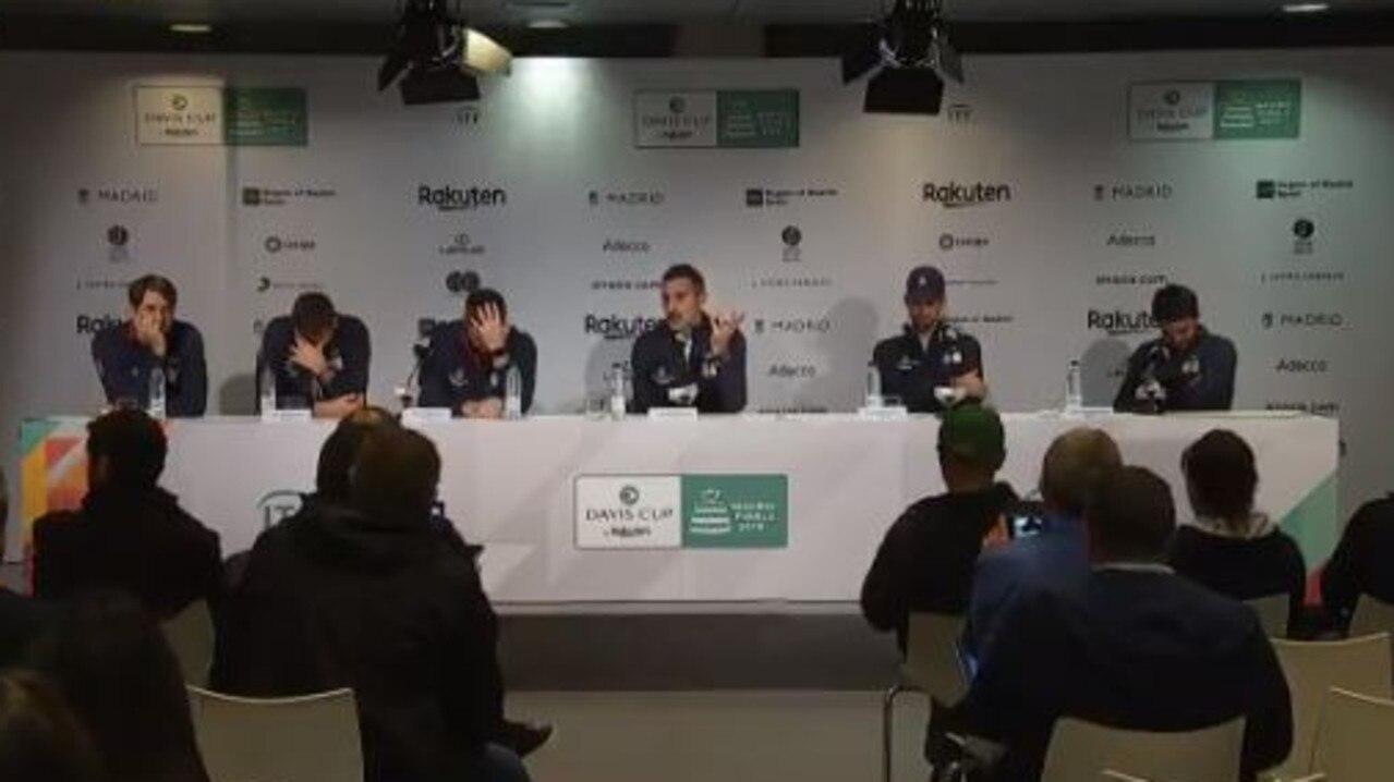 Novak Djokovic, Serbia break down in press conference after heartbreaking Davis Cup defeat