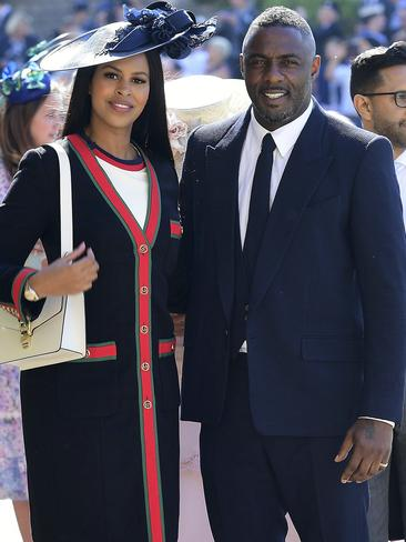Idris Elba, right, with Sabrina Dhowre. Picture: AP