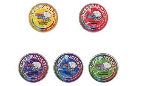 <b>19. SUPER BRAIN PUTTY, RRP $8.00, AGE 3+.</b>  <p>There's no better stocking filler on Christmas morning than some good old fashioned putty. This putty stuff smells great, feels good and never dries out. Comes in different colours blah blah blah and you can make brains out of it. Sign me up!</p>
