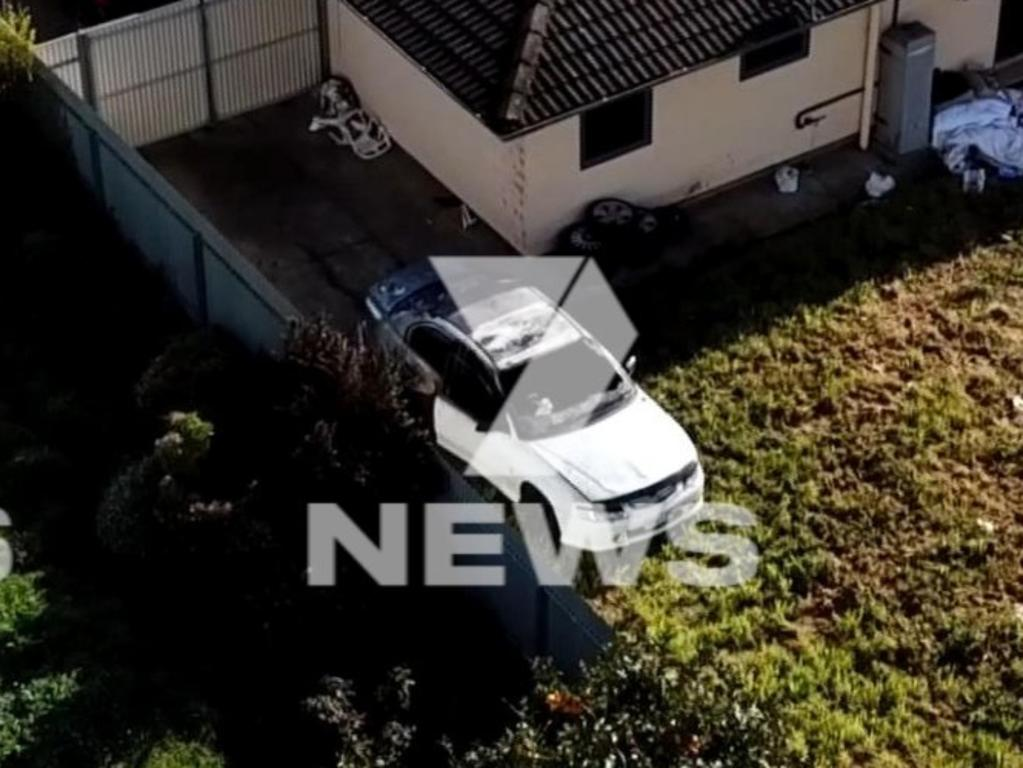 A mother of four who tested positive to Covid-19 had her car set alight in what is believed to be a targeted arson attack. Picture: 7 NEWS