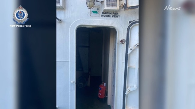 Man arrested after allegedly hiding in ship vent