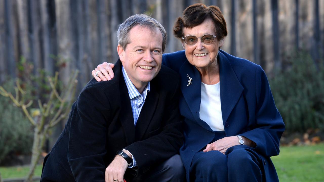 Bill Shorten and his mum, Ann Shorten.