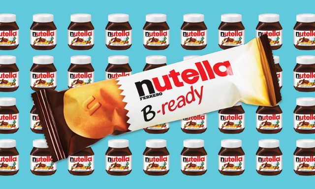 Nutella is now available in bar form, B-ready