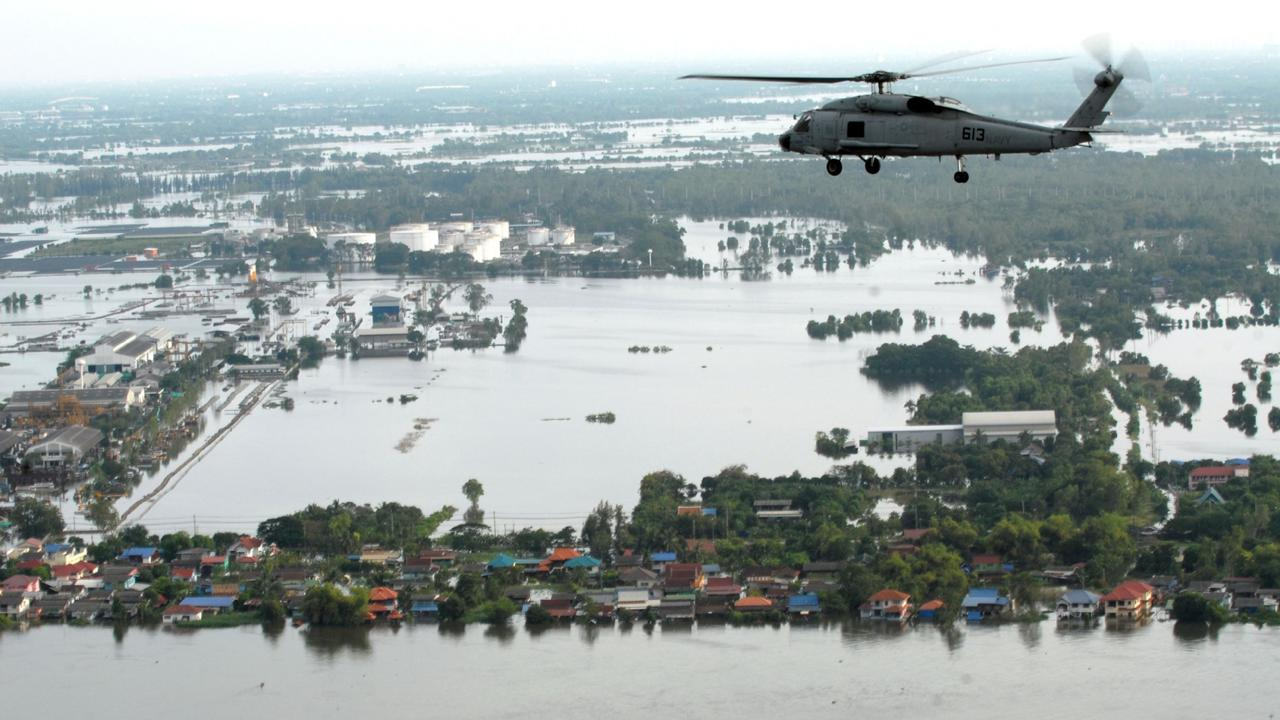 Flooding in Bangkok in October, 2011. Picture: AFP Photo