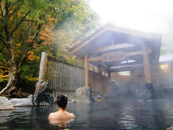 Traditional Japanese experience. Thermal hot spa