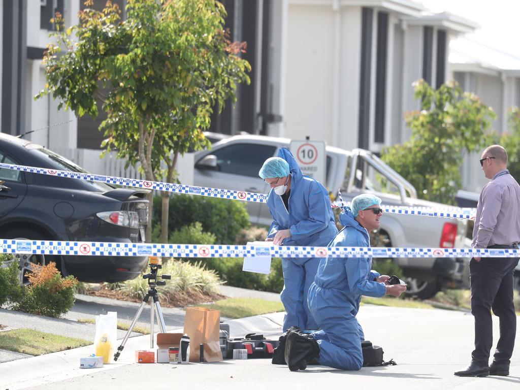Police have established a crime scene at Pimpama, where former bikie Shane Bowden was found dead. Picture: Annette Dew