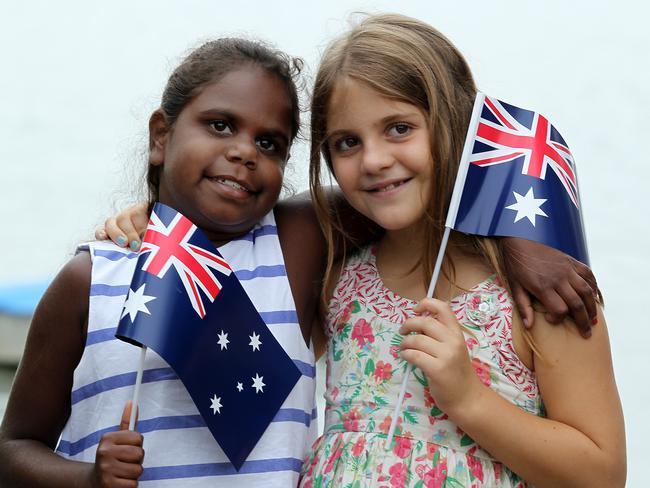 "Australia Day cheer. Picture: Mark Scott                         <b><a href=""http://www.dailytelegraph.com.au/news/nsw/australia-day-2017/image-gallery/ff98d18aea95460979854c72f62faf53#embed"" title=""www.dailytelegraph.com.au"">GALLERY</a></b>"