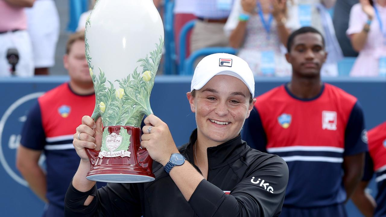 Ash Barty is having a stellar year after claiming the Cincinnati Masters in Ohio in a dominant display. Picture: Matthew Stockman/Getty Images