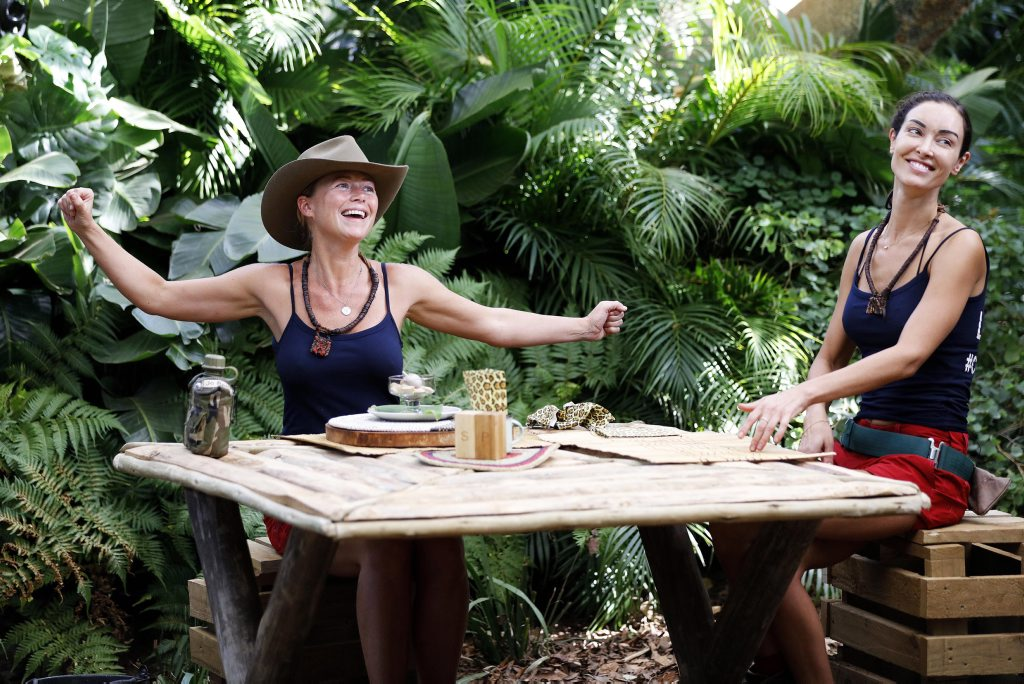 Jo Beth Taylor and Laurina Fleure pictured during a tucker trial on I'm A Celebrity... Get Me Out of Here! . Picture: Nigel Wright