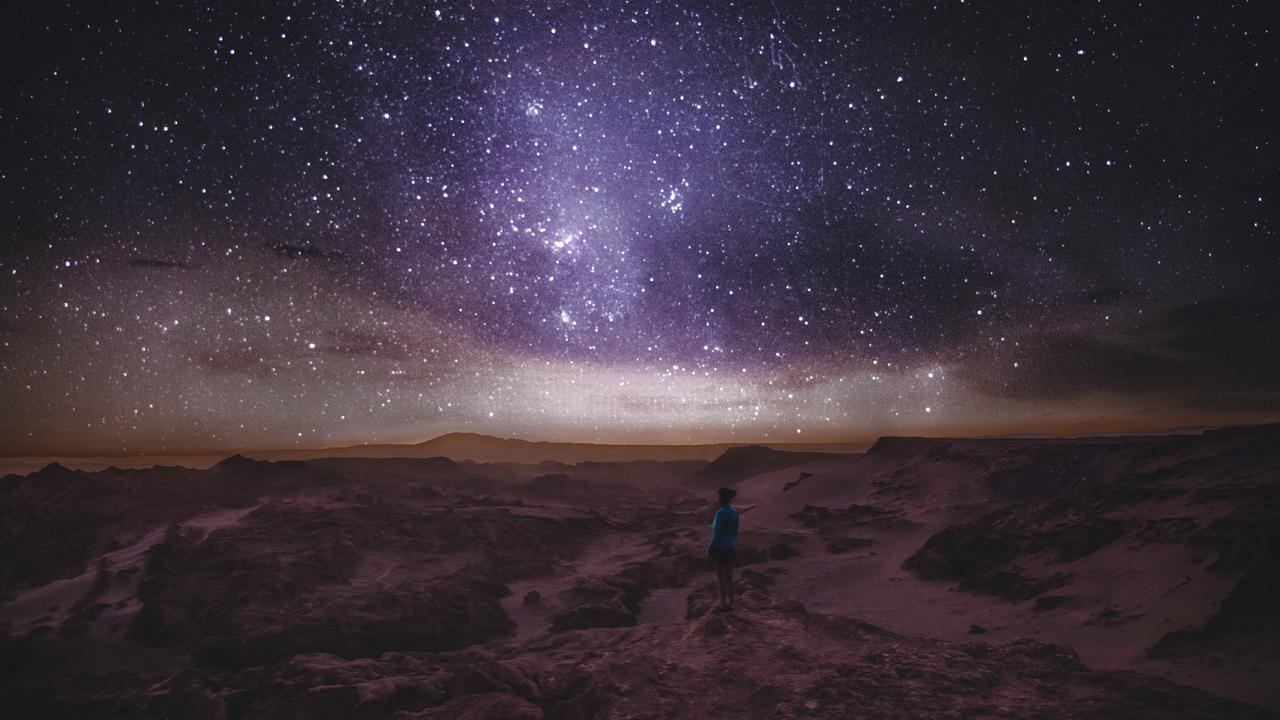 The night sky, including the Milky Way, seen from the Atacama Desert, Chile. Picture: iStock